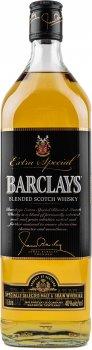Виски купажированный Barclays 3 года выдержки 1 л 40% (5010852000924)