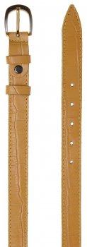 Женский ремень кожаный Sergio Torri 8-0049 100-120 см Желтый (2000000014807)