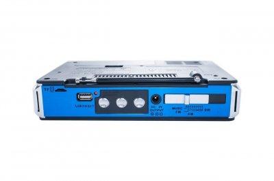 Акумуляторна радіо колонка портативна акустика USB LED-ліхтар Синій Golon (RX-1413)