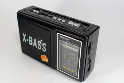 Акустична система Golon радіо акумуляторний з USB виходом колонка радіоприймач з ліхтариком Чорний (RX-177)