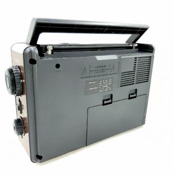 Аккумуляторный FM радио приемник в ретро стиле с USB выходом под флешку Коричневый Golon (RX-9966)