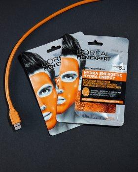 Тканевая маска для лица L'Oreal Paris Men Expert Hydra Energetic для мужчин 30 г (3600523704378)
