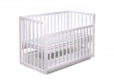 Детская кроватка трансформер с ящиком CHARIVNE Белый (DS-401)