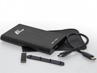 """Зовнішній кишеню Frime SATA HDD/SSD 2.5"""", USB3.1 Type-C, Metal, Black (FHE40.25U31)"""