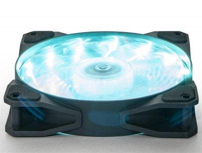 Вентилятор Frime Iris LED Fan 15LED Azure (FLF-HB120A15); 120х120х25мм, 3-pin+4-pin
