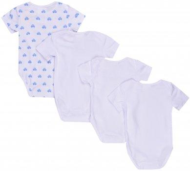 Боди-футболка H&M 5hm03200507 4 шт (до 98 см) Белое