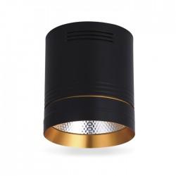 Світлодіодний світильник Feron AL542 18w чорний-золото