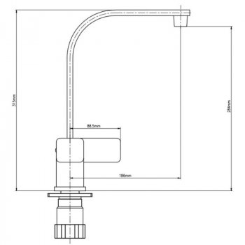 Змішувач для кухні GF (CRM)S-10-007F SD00025836