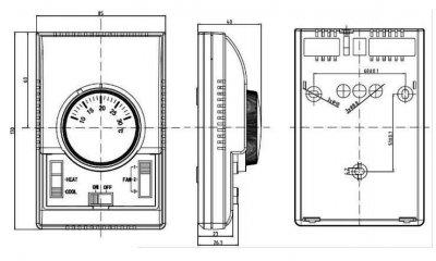3-х ступінчастий регулятор швидкості з термостатом Reventon НС3Ѕ (RTHC3S-1779)