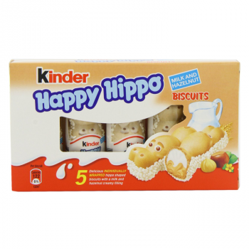 Батончики Kinder Happy Hippo 103 g з горіховим смаком