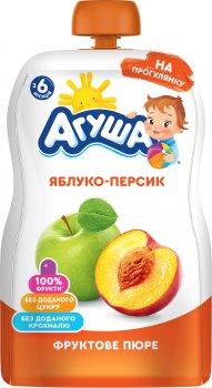 Упаковка пюре Агуша Яблуко-Персик 90 г х 10 шт. (4823063115964)