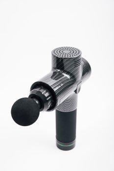Портативный ручной вибромассажер для мышц Fascial Gun Guru Pro Carbon ударный массажер для тела