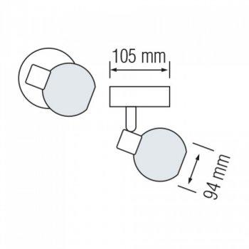 Світильник настінно-стельовий Horoz Electric Bodrum-1 max 40Вт Е14 (035-004-0001)