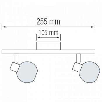 Світильник настінно-стельовий Horoz Electric Bodrum-2 max 2х40Вт Е14 (035-004-0002)