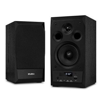 Акустична система ( колонки ) SVEN MC-10 (black) 2x25 Вт, Bluetooth, USB flash, SD, FM, ДУ (15126)
