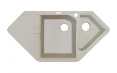 Кухонна мийка гранітна Adamant SPIRIT ivory-08