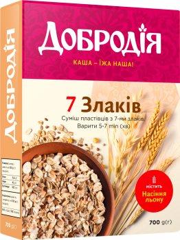 Упаковка смеси хлопьев Добродія 7 злаков 700 г х 3 шт (4820182202582)