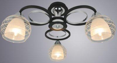 Світильник стельовий Arte Lamp A1604PL-3BK GINEVRA 40W E14 чорний (A1604PL-3BK)