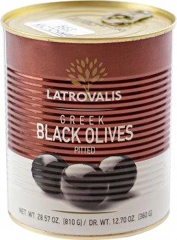 Оливки чорні Latrovalis без кісточок 141/160 900 мл (5204403623445)