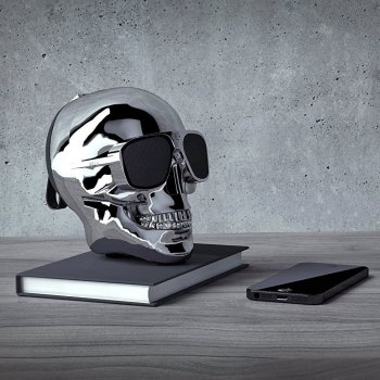 Акустическая система Skull Wireless Bluetooth Speaker Silver (TXT-042)