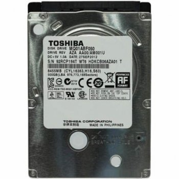 """Жорсткий диск для ноутбука 2.5"""" 500GB TOSHIBA (MQ01ABF050)"""