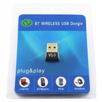 Беспроводной Bluetooth Adapter 5.0 USB мини адаптер для ноутбука и компьютера, windows (CSR-v5.0)