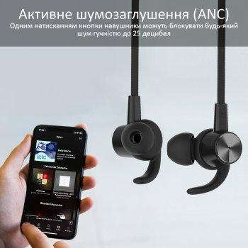 Навушники Promate Hush ANC IPX4 Black (hush.black)