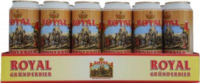 Упаковка пива Royal Grunderbier Hefeweizen світле нефільтроване 5.3% 0.5 х 24 шт. (4015576055022G)