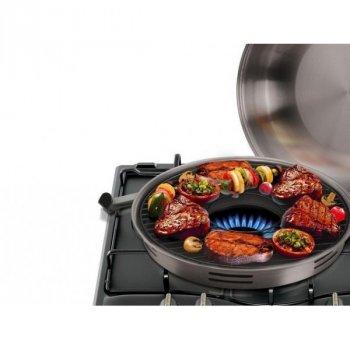 Сковорода гриль газ из нержавеющей стали с эмалированным покрытием A-Plus (031737)
