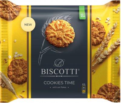 Упаковка печенья BISCOTTI Cookies Time с овсяными хлопьями 170 г х 12 шт (4820216120073)