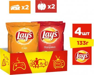 Упаковка-мікс чипсів Lay's 2 смаки 133 г х 4 шт. (4823063120715)