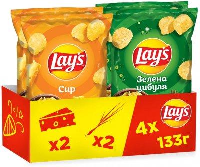 Упаковка-мікс чипсів Lay's 2 смаки 133 г х 4 шт. (4823063120708)