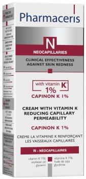 Крем с витамином К уплотняющий капилляры Pharmaceris N Capinon K 1% 30 мл (5900717150522)