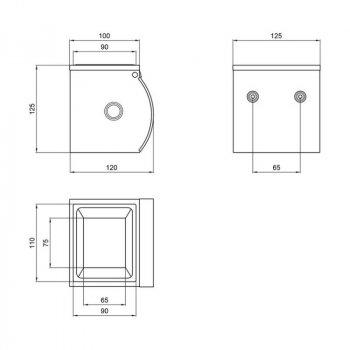 Тримач Для Туалетного Паперу Lidz (Crm)-121.04.05