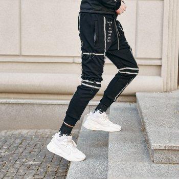 Спортивные штаны Over Drive Flare черные (tikitaka)