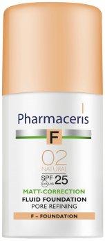 Матирующий тональный флюид Pharmaceris F SPF25 сужающий поры Натуральный 30 мл (5900717153721)
