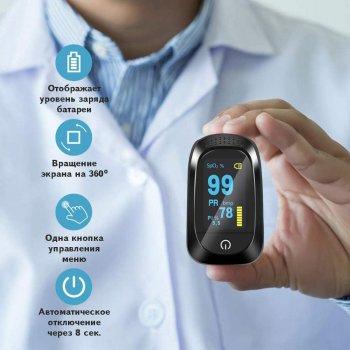 Пульсоксиметр оксиметром IMDK Medical A2 (C101A2) Original OLED Точний з монітором Інтенсивності потоку крові (Pi) і Пульсу (bpm) і Кисню в крові (SpO2) Української інструкцією і батарейками