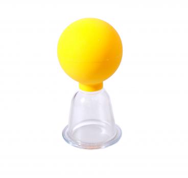 Набор вакуумных массажных банок УкрМедика пластиковые с резиновой грушей 2 шт диаметр 5 см