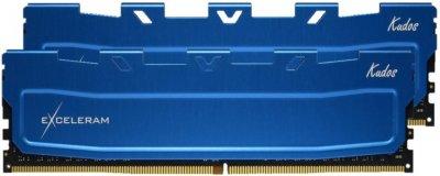 Оперативна пам'ять Exceleram DDR4-2666 32768MB PC4-21300 (Kit of 2x16384) Blue Kudos (EKBLUE4322619AD)