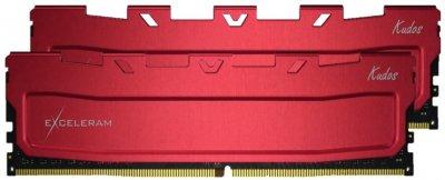 Оперативна пам'ять Exceleram DDR4-3200 16384MB PC4-25600 (Kit of 2x8192) Red Kudos (EKRED4163216AD)