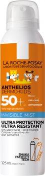 Солнцезащитный ультралегкий водостойкий спрей-мист La Roche-Posay Anthelios Dermo-Kids для чувствительной кожи детей с очень высокой степенью защиты SPF 50+ 125 мл (3337875696814)