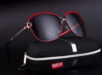 Очки солнцезащитные женские с поляризационной линзой Barcur red