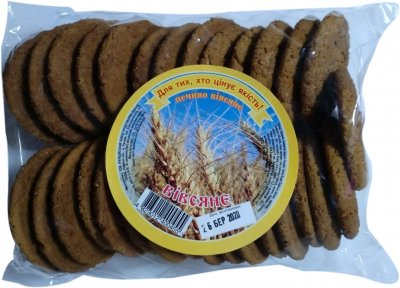 Упаковка печенья Ржищев овсяного 500 г х 2 шт (4820007054600)