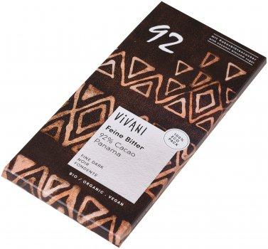 Шоколад Vivani чорний органічний 92% какао 80 г (4044889002249)