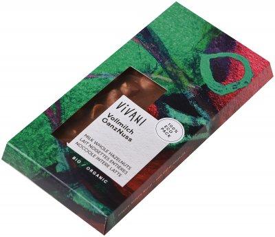 Шоколад Vivani молочный органический с целым лесным орехом 100 г (4044889000078)