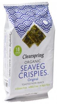 Чипси Clearspring органічні з морських водоростей із сіллю 4 г (5021554002604)