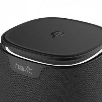 Бездротова Bluetooth колонка HAVIT HV-M1, black (з функцією бездротової зарядки)