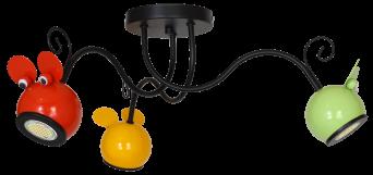 Стельовий світильник бра Luminex Mouse дитячий Різнобарвний (7918)