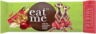 Упаковка батончиков EatMe зерновых с ревенем и вишней 30 г х 10 шт (4820097898542)