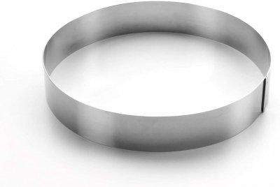 Форма Lacor з нержавіючої сталі для випічки торта 10х4см (68410)
